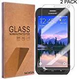 [2 Pack] Samsung Galaxy S6 Active Screen Protector, NOKEA [Tempered Glass] with [9H Hardness] [Crystal Clear] [Easy Bubble-Free Installation] [Scratch Resist] (for Galaxy S6 Active)