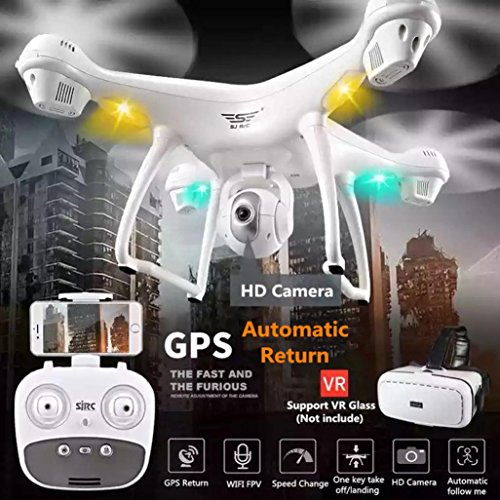 Ecosin 2.4GHz GPS FPV Drone Quadcopter with 120° Wide-angle Lens 1080P HD Camera Wifi Real-time Images Transmission System Headless Mode by Ecosin