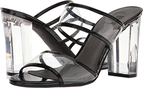 G by GUESS Women's Brayla Clear/Black 7.5 M US - Shoes Clear Slide