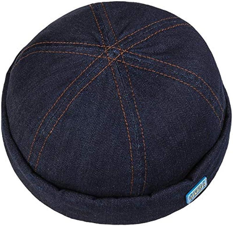 Stetson Denim Contrast Stitch czapka z daszkiem dla mężczyzn – Made in The EU z kopertą, docker wiosenne lato: Odzież