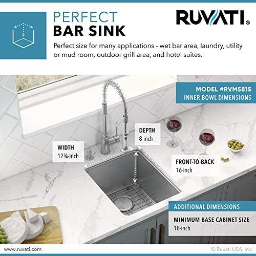 Ruvati 15 Inch Undermount Bar Prep Kitchen Sink 16 Gauge Stainless Steel Single Bowl Rvm5815 Amazon Com