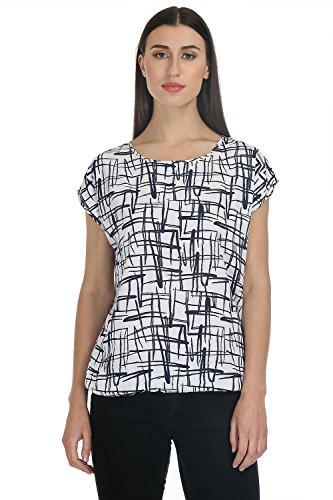 Deewa Pack of 2 Blue and White Printed Women Tops