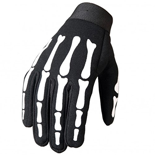 Hot Leathers, SKELETON BONES, Heavy Duty Fabric with Long Lasting Durability MECHANICS GLOVES - XL Black