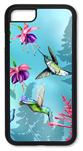 Knurled Case - Hummingbirds - Rubber Shell Case/Cover with Knurled edges for iPhone 5 & iPhone 5S