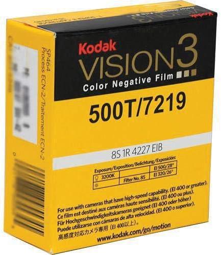 Kodak VISION3 500T/7219 カラーネガティブモーション写真フィルム 16mm SP457 Winding B Tコア1R-2994 穴あき 400フィートロール