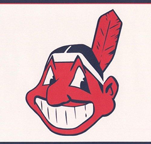 Cleveland Indians MLB Baseball Team Fan Sports Wallpaper Border Modern Design, Roll 15' x -