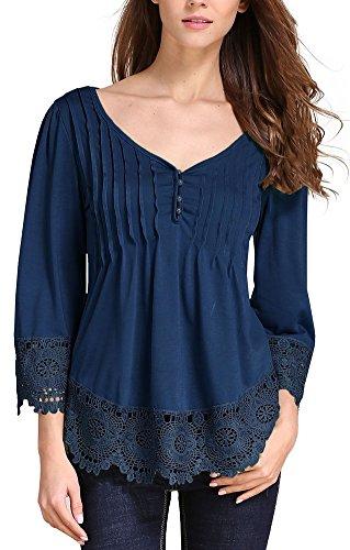 women-classic-vintage-3-4-sleeve-lace-plus-size-casual-shirt-blouse-top-blue-us-8