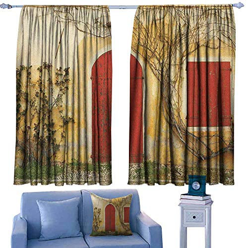 Mannwarehouse Shutters Novel Curtains Doorway with Blinded Door and Window to The Rural Tuscan House Italy Europe Set of Two Panels 55