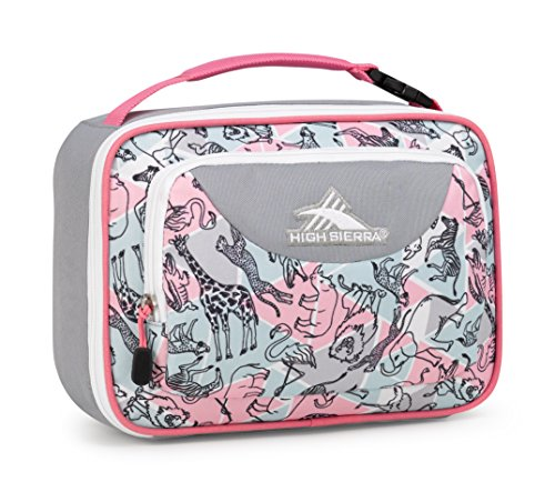 High Sierra Single Compartment- Safari/Ash/Pink (Safari Lunch)