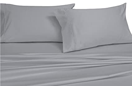Split King: Adjustable King Bed Sheets, Solid Gray 600 Thread Count