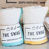 The Swag Produce Bag - Twin Pack (Orange/Aqua, small)