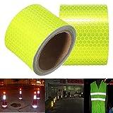 Giveme5 3M Yellow Reflective Tape Vehicle Motorcycle Sticker Safety Warning