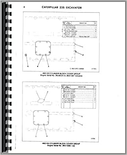Amazon com: Caterpillar 235 Excavator Parts Manual (0718349117050