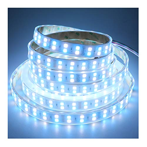 LEDENET Double Row DC 24V 600LEDs/spool 5m RGB+Cold White (6500k-7000K) 5050 SMD Waterproof RGBW LED Strip Lights in Silicone sleeving IP67 for Wedding Party Holiday Outdoor LED Lighting