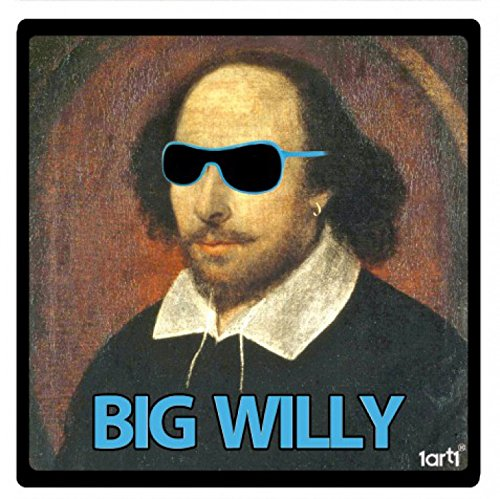William Shakespeare Sticker Adhesive Decal - Big Willy (4 x 4 - Shakespeare Sunglasses With