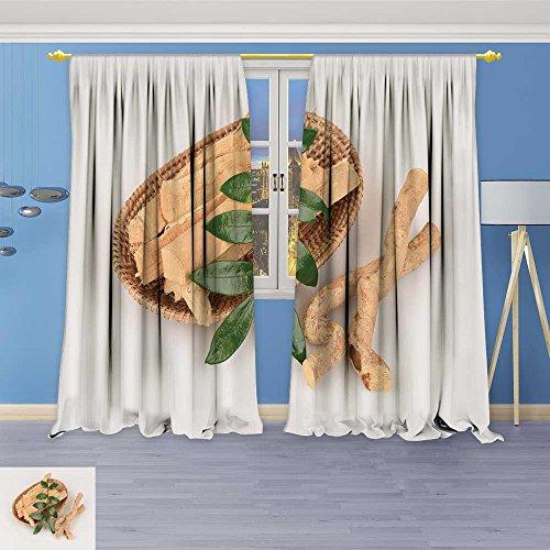 - SOCOMIMI Linen Blend Curtains -tongkat Ali eurycoma longifolia Jack Pattern Print Curtain Window Curtain Panel, 84W x 72L inch