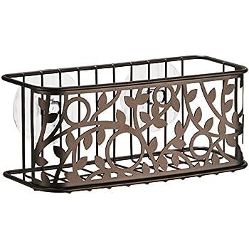 Amazon.com: InterDesign Vine Suction Bathroom Shower Caddy Basket ...