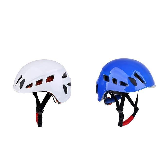 SGerste - Casco de Seguridad para Escalada (2 Unidades), Color Blanco y Azul: Amazon.es: Deportes y aire libre