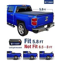 "Tyger Auto TG-BC3C1006 Tri-Fold Tonneau Truck Bed Cover (For 2014-2016 Silverado/Sierra 1500 & 2015 Silverado/Sierra 2500 HD/3500 HD 5.8' (69.6""))"