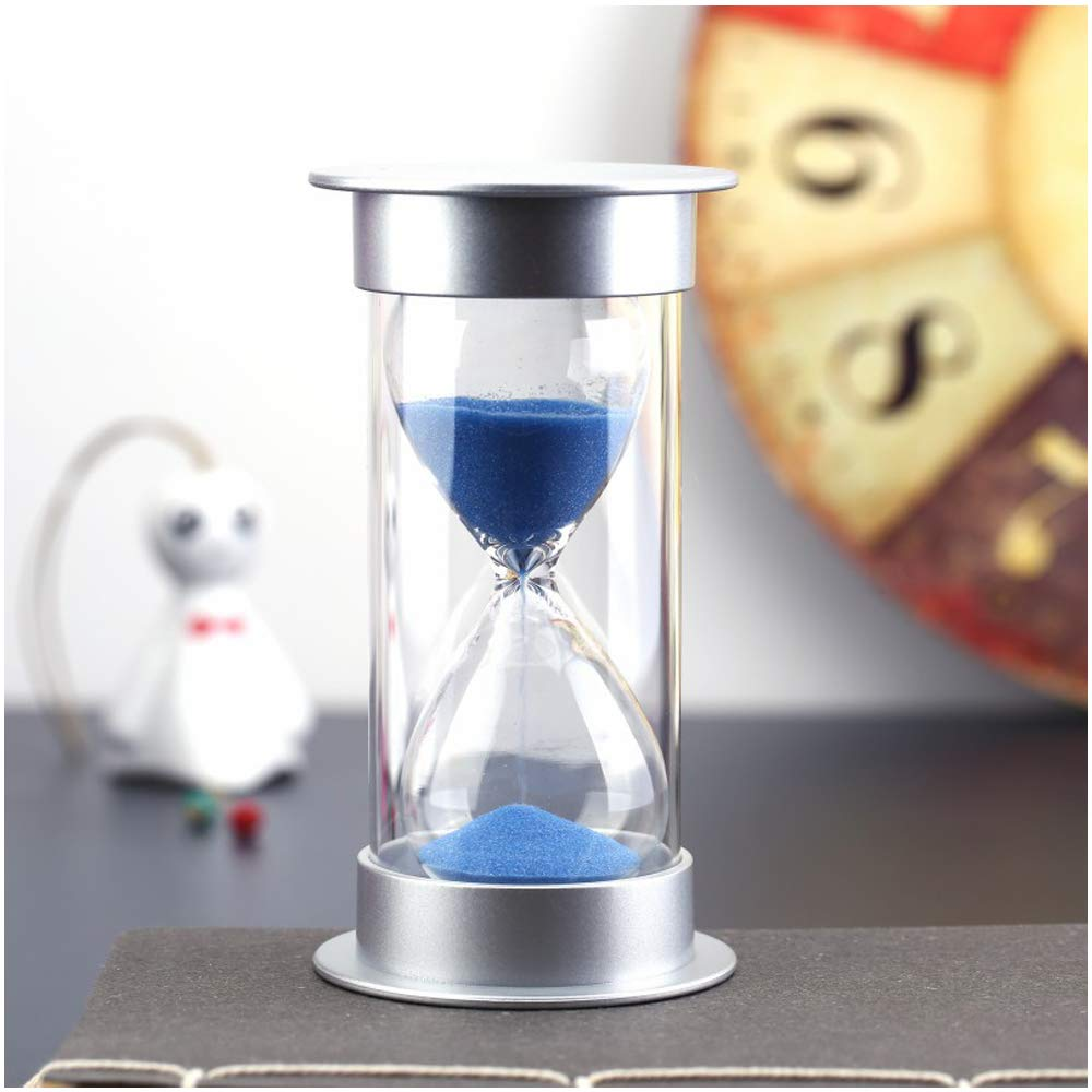 Bloss 15 Minutes Sand Timer Security Fashion Hourglass Sand Clock for Children, Decoration, Souvenir, Games, Cooking - Blue