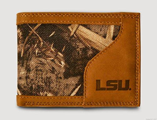 Jamarcus Russell Jersey (LSU Tigers Bi-fold Realtree Max-5 Camo & Leather Wallet - Zep-Pro - Louisiana State University - NCAA)