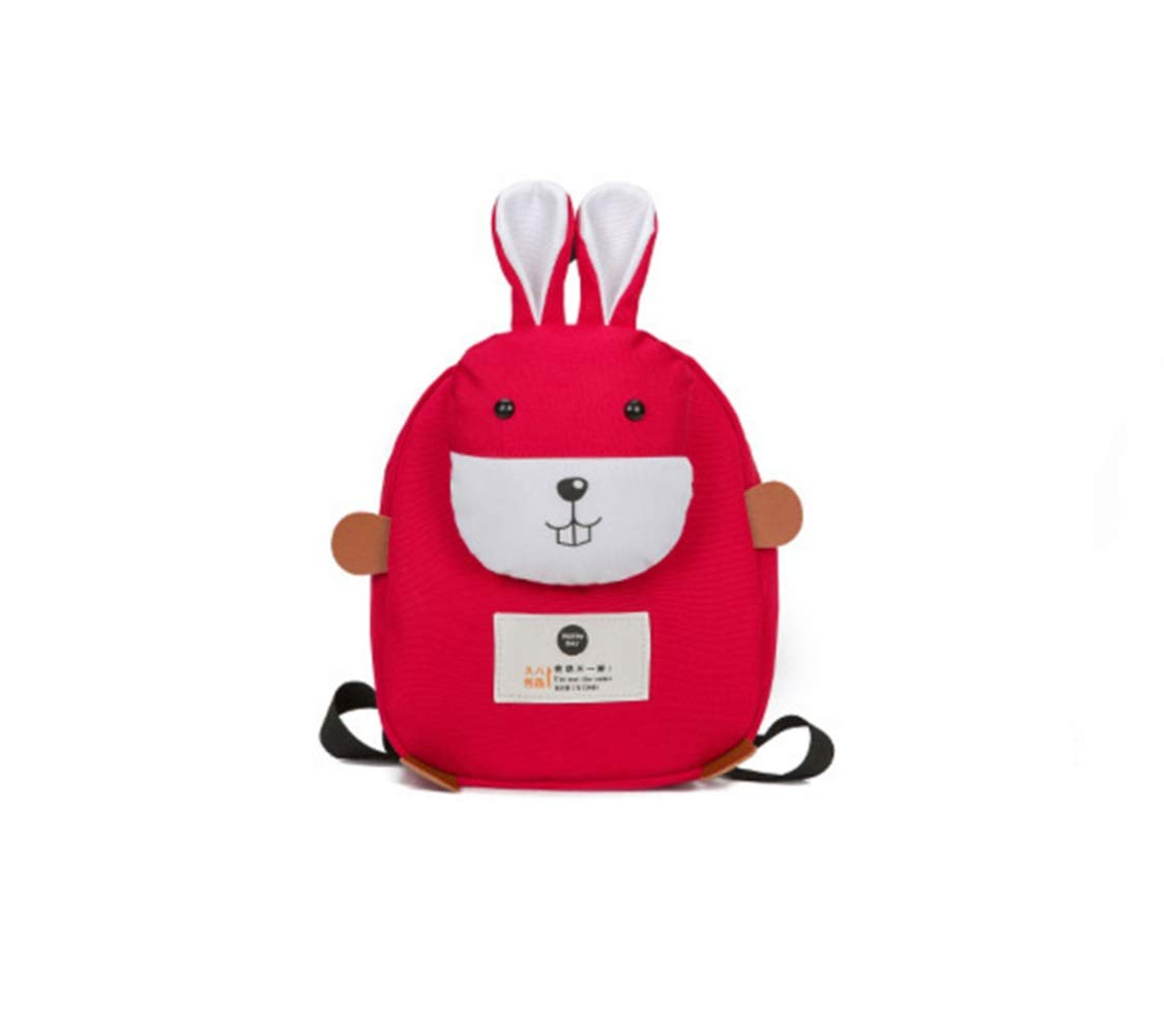 XL-LIGHT Bunny Children's School Bag Creative Section Children's Bag Anti-Lost School Bag Kindergarten 3-6 Years Old Girl Bag (Color : Red)