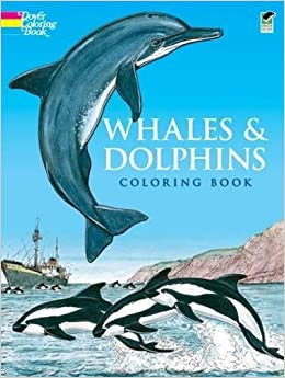 whales and dolphins coloring book dover nature coloring book - Coloring Pages Whales Dolphins
