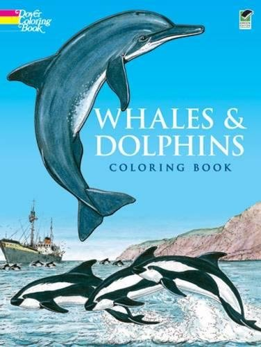 WHALES AND DOLPHINS. Coloring book (Anglais) Broché – 1 juin 1990 John Green Dover Publications Inc. 0486263061 FBA-279005