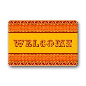 New National Noble WELCOME Doormats Non Slip Durable Machine-washable Home Indoors / Outdoors Doormat Mats