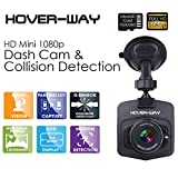 Hover-Way HD Mini Auto-Black Box DVR Dash Cam (Includes Camera, Suction Cup Mount, Car Charger, Micro USB Cable, and 8GB microSD Card) - Black