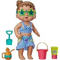 Baby Alive E87185L01 Sun 'n Sand Baby Brown Hair Doll with Beach Outfit and 5 Accessories, Toy for Kids Ages 3 Years Old…