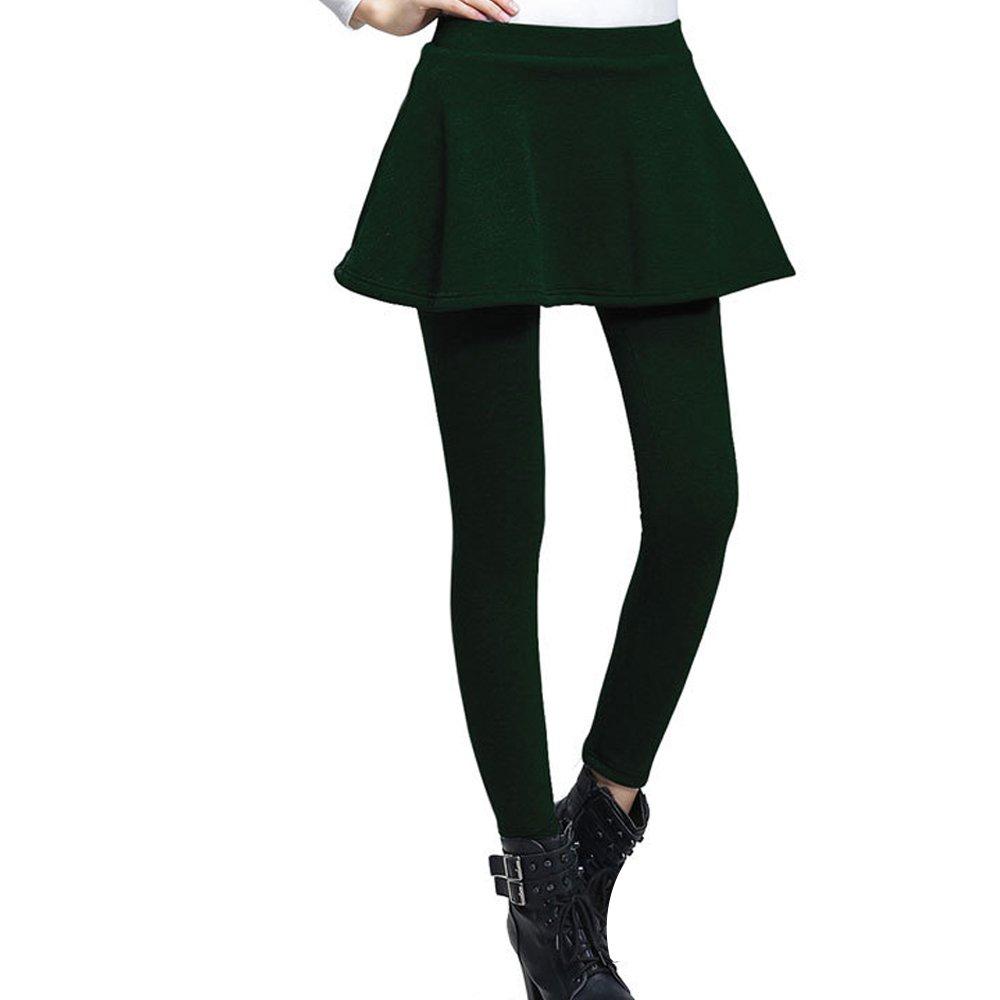 afbfcfa29e OCHENTA Women's Thermal Winter Fleece Lined Pants Flared Skirt Leggings  Tights (Girls/Ladies) UK4-18: Amazon.co.uk: Clothing