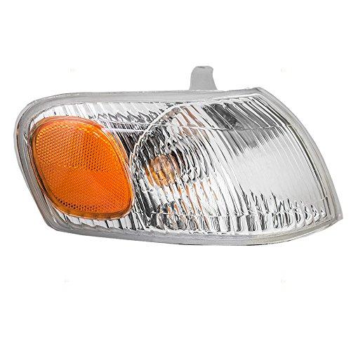 Park Signal Corner Marker Light Lamp Lens Passenger Replacement for 98-00 Toyota Corolla 81510-02040 (Toyota Corolla Park)