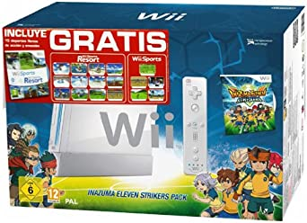 Nintendo - Consola, Color Blanco + Inazuma Eleven Strikers + Sports Resorts Pack Especial (Nintendo Wii): Amazon.es: Videojuegos