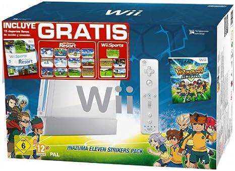 Nintendo - Consola, Color Blanco + Inazuma Eleven Strikers + Sports Resorts Pack Especial (Nintendo Wii): Amazon.es: Videojuegos