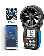 HoldPeak HP-866B-digitale windmeter, windsnelheid met bluetooth-verbinding, draadloos, voor het meten van luchtvolume, windsnelheid, temperatuur, navigatie in de vlucht, trekken