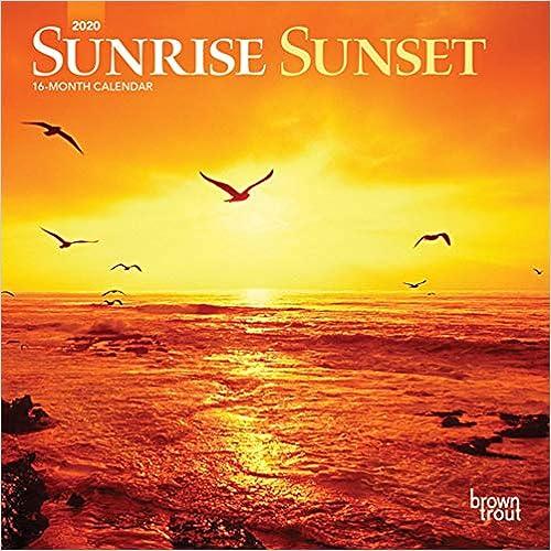 Télécharger livre Sunrise Sunset 2020 Calendar pdf gratuit