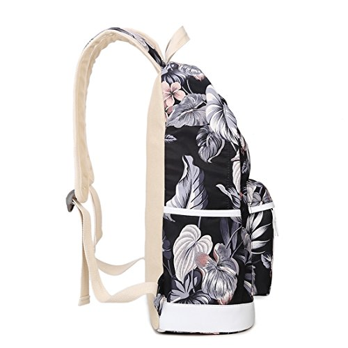 Amazon.com | Joymoze Casual Lightweight Fashion Print Backpack Cute School Bag for Teen Black Flower | Kids Backpacks