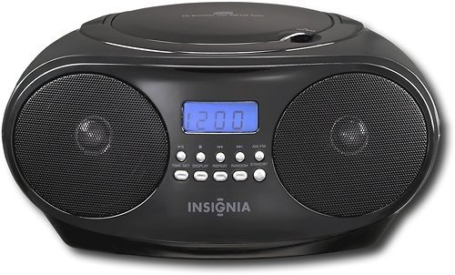 Insignia - CD Boombox with AM/FM Tuner - Black (Fm Insignia Radio Am)