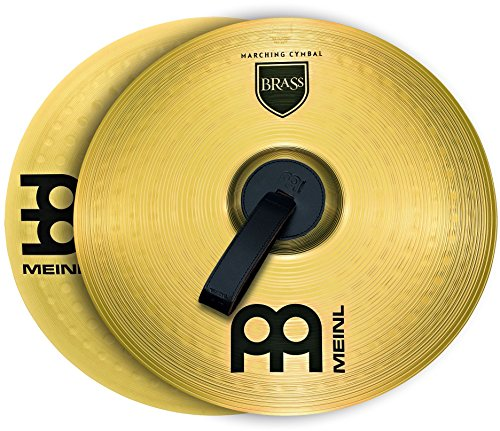 "- Meinl 14"" Marching Cymbal Pair with Straps - Brass Alloy Traditional Finish - Made In Germany, 2-YEAR WARRANTY (MA-BR-14M)"