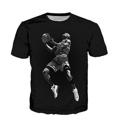 c3ebc24393ad Amazon.com  Jordan t Shirts Jordan 3D t Shirt Men Women Casual t Shirt  Style Hip hop Tops  Clothing