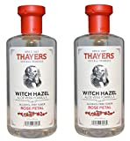 Thayers Alcohol-free ZzAChp Rose Petal Witch Hazel with Aloe Vera, 2Pack...