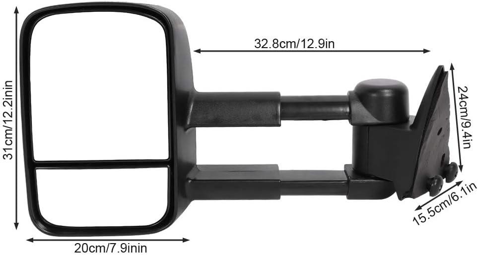 Espejos de remolque Terisass GM1320123 GM1321123 2 piezas Luz de se/ñal de giro Espejo lateral Espejo el/éctrico calentado Espejos de remolque de se/ñal LED 15764759 15764760 Apto para cami/ón Chevy C1500