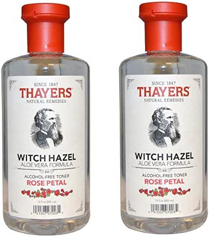 Thayers Alcohol-free IgjYNi Rose Petal Witch Hazel with Aloe Vera, 2Pack (12oz)