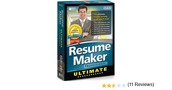 amazoncom resume maker professional ultimate