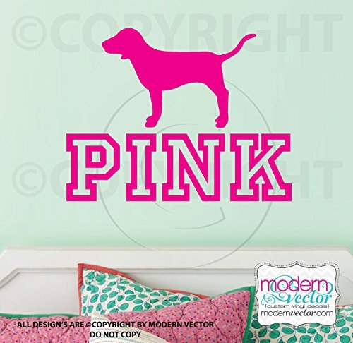 VS PINK logo dog Vinyl Wall Decal