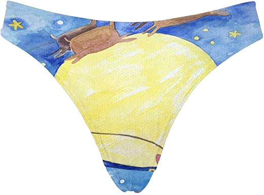 INTERESTPRINT Valentine Pattern Womens Low Rise Thong Underwear Panties XS-3XL