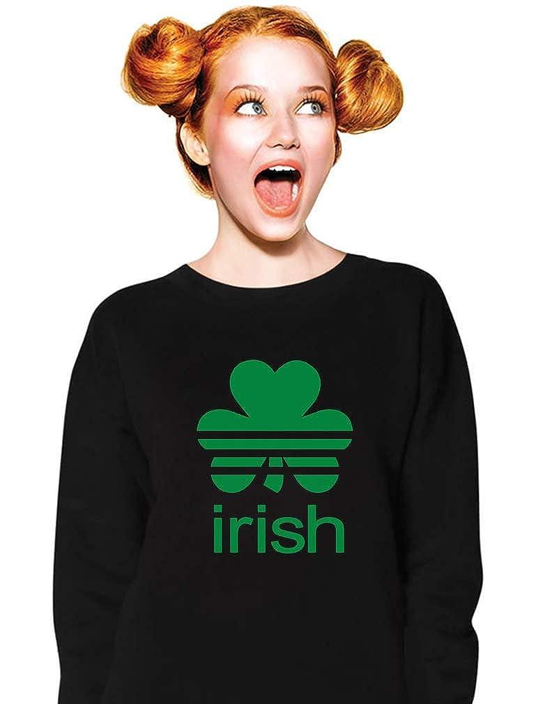 Patricks Day Shamrock Clover St Irish Women Sweatshirt TeeStars