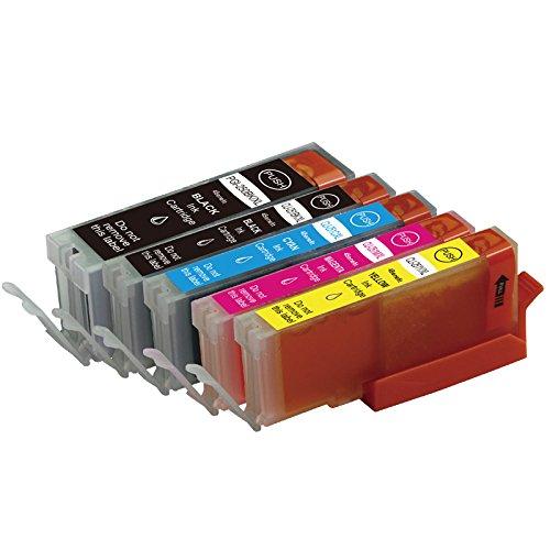 5 Pack Compatible Canon PGI-250XL, PGI 250, CLI-251XL, CLI 251 High Yield Ink Cartridge Replacement (1 Large Black, 1 Black, 1 Cyan, 1 Yellow, 1 Magenta) for PIXMA iP7250, PIXMA MG6320, PIXMA MG5420, PIXMA iP7220, PIXMA MX922, PIXMA MX722, PIXMA MG6350, P