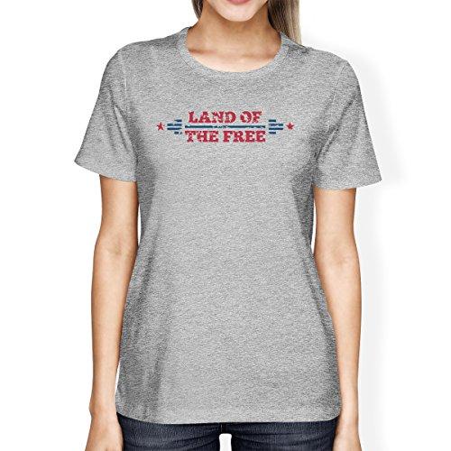 corta One manga mujer Printing Of Land para de 365 The Size Free Camiseta nSIUqU0